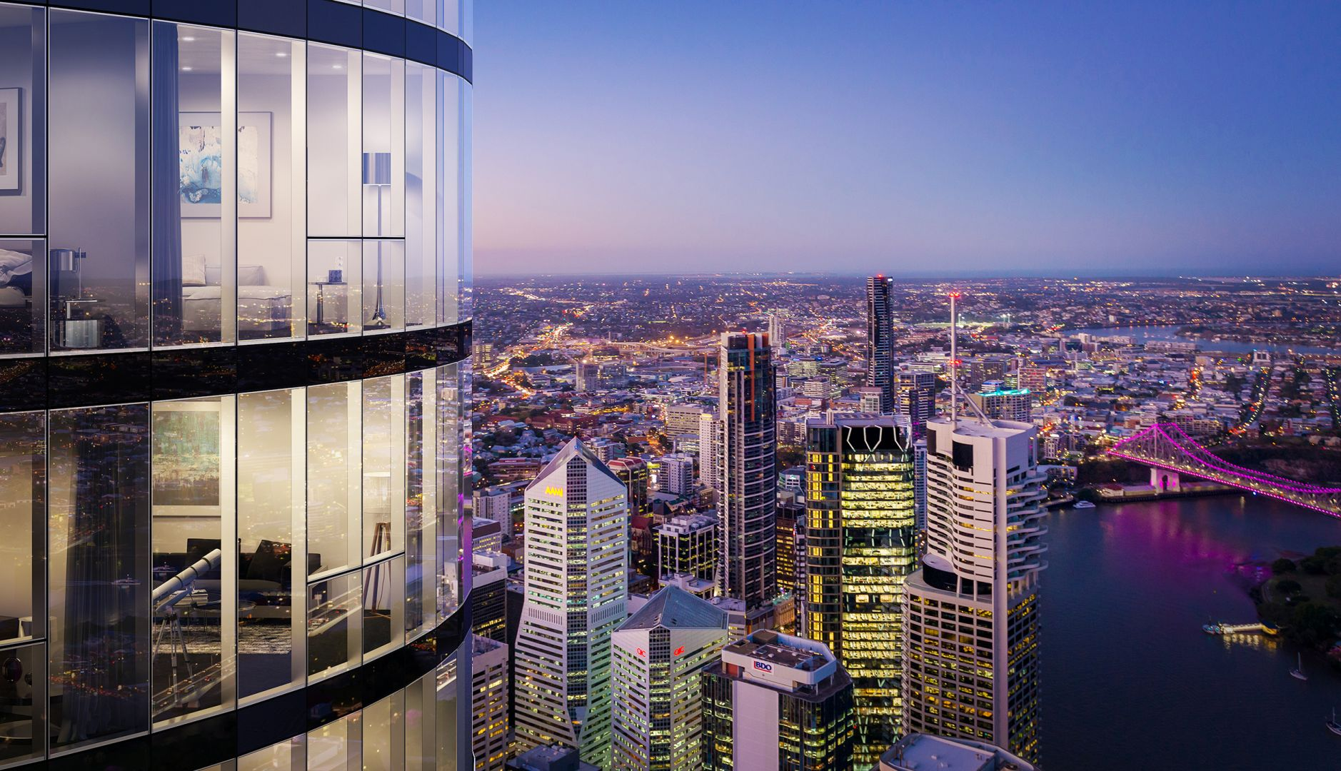 Best value buy in the CBD with panorama view on 47th floor